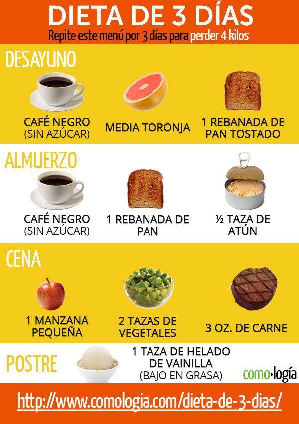 menu para perder peso rapido