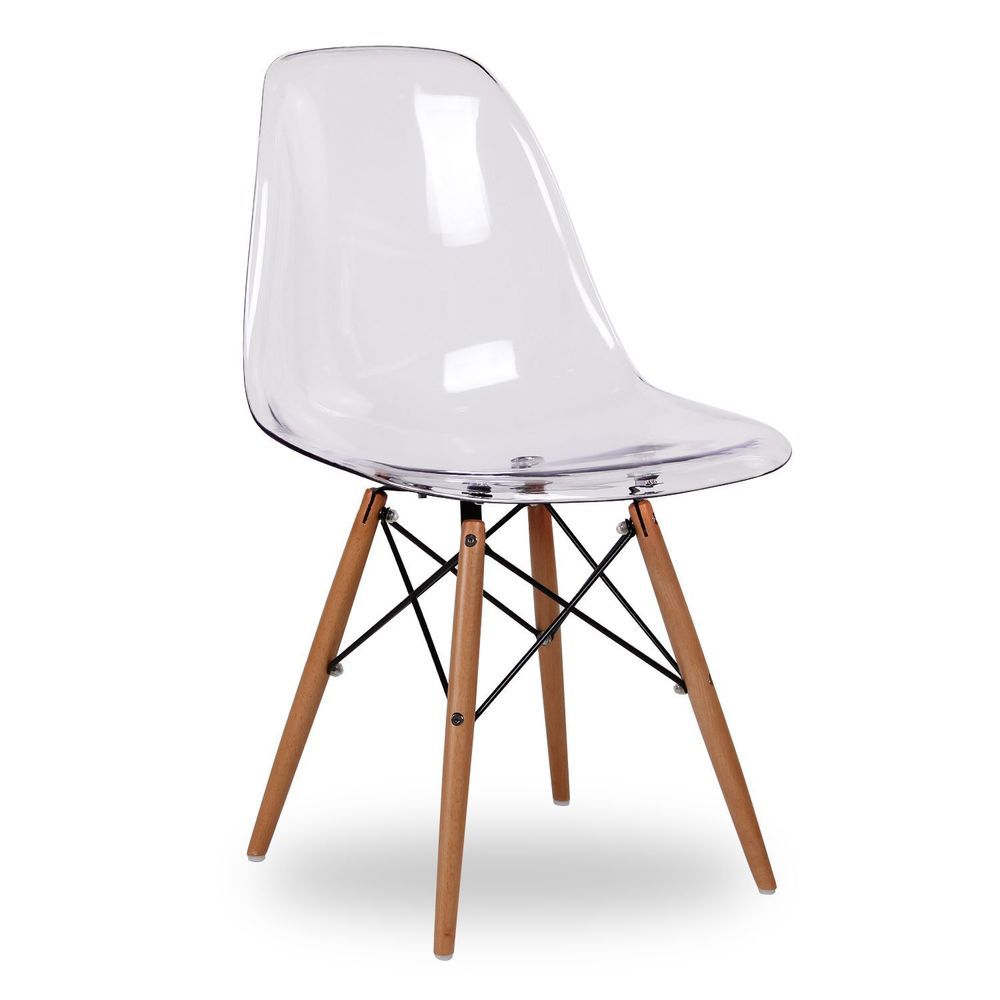 Eame Style Ghost Eiffel Chair clear transparent Retro