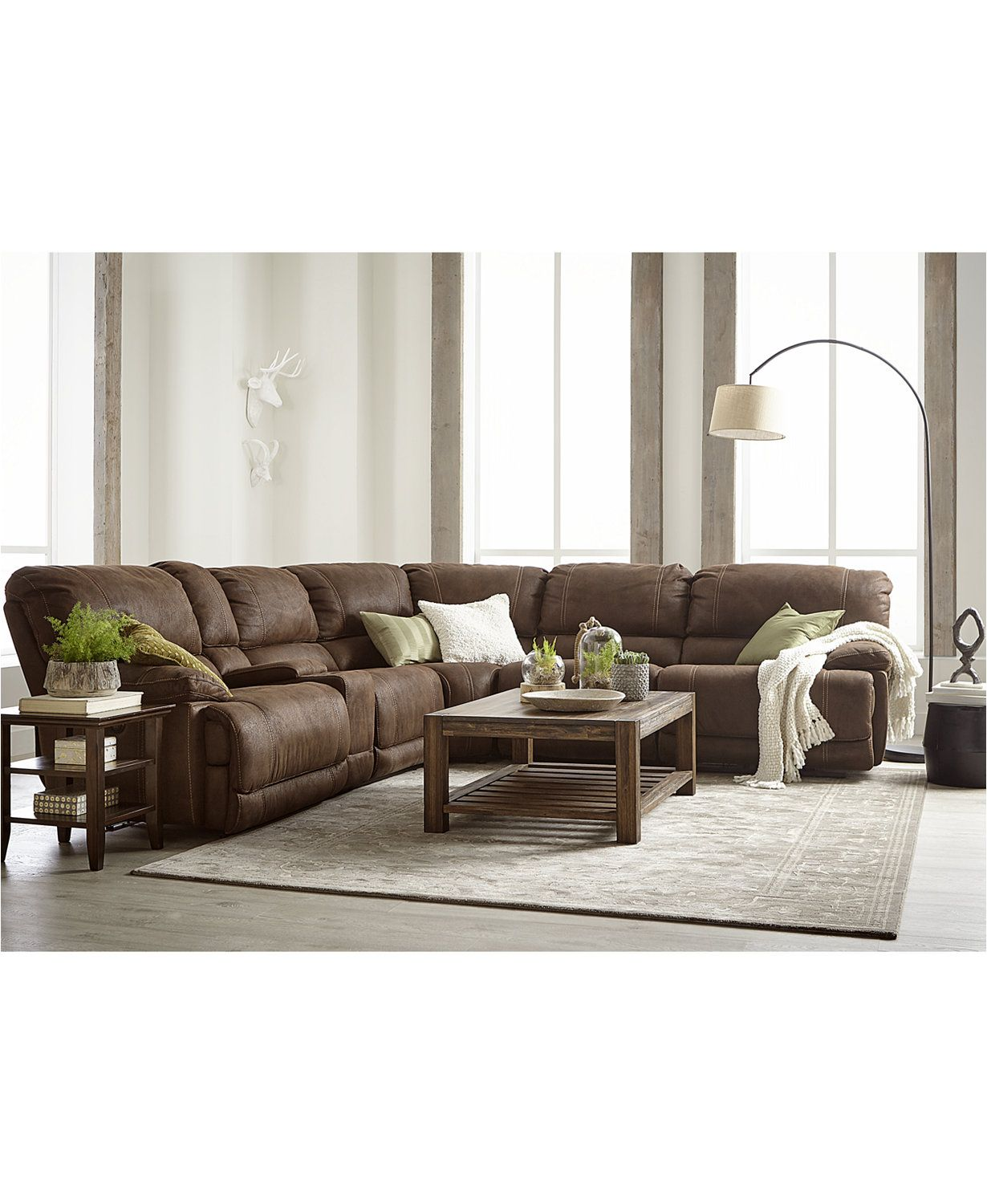 Jedd Fabric Power Reclining Sectional Sofa Collection Macys Com  ~ Fabric Sectional Sofa With Power Recliner