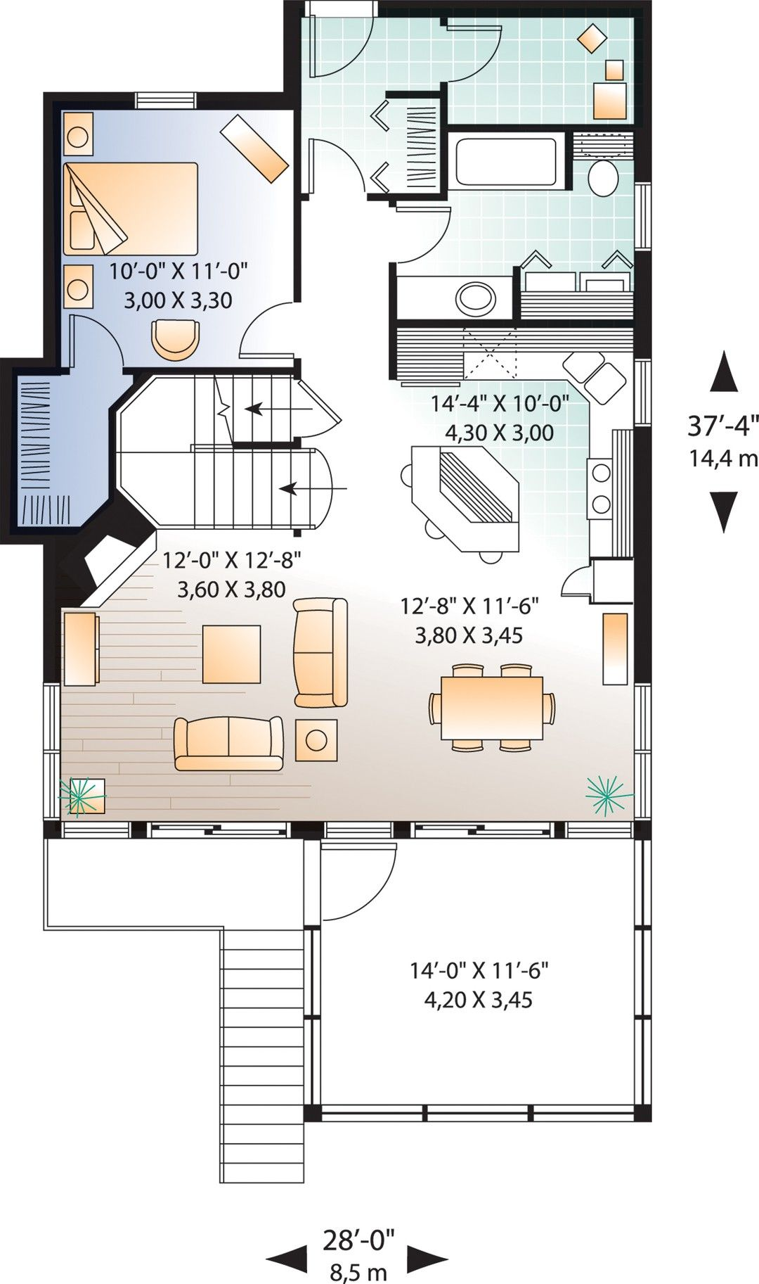 Hpm Home Plans Home Plan 728 4916 In 2021 Beach Style House Plans House Plans Country Style House Plans