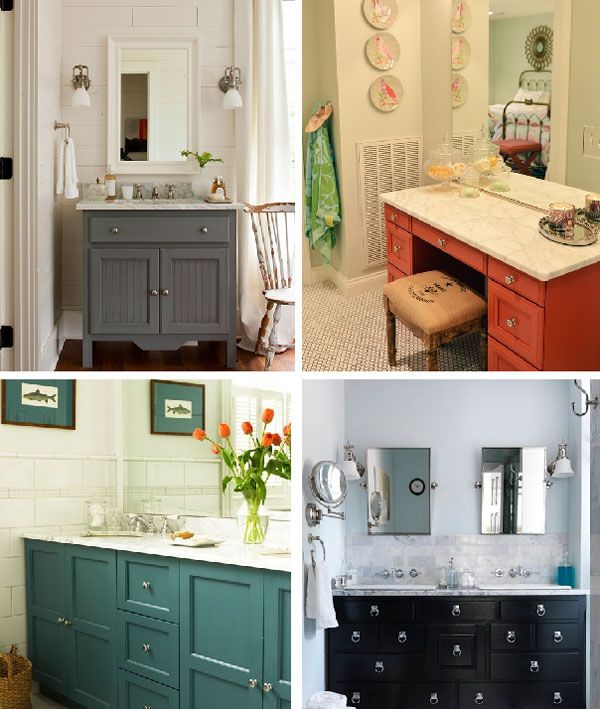 Bathroom Remodelling Painting a bathroom remodel painting the vanity for a custom look | apron