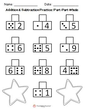 Subtraction Worksheets Part Whole