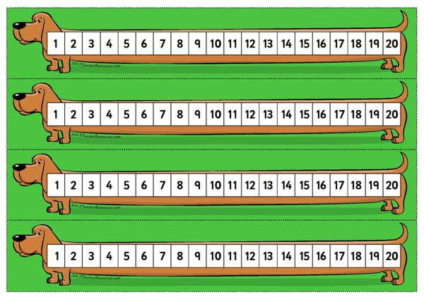 Printable Desktop Number Line To 20 Ideal To Pop On