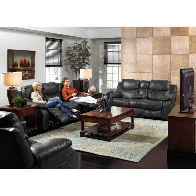 Modern Sectional Sofas Catnapper Catalina Leather Reclining Sofa Set Steel CAT Durable