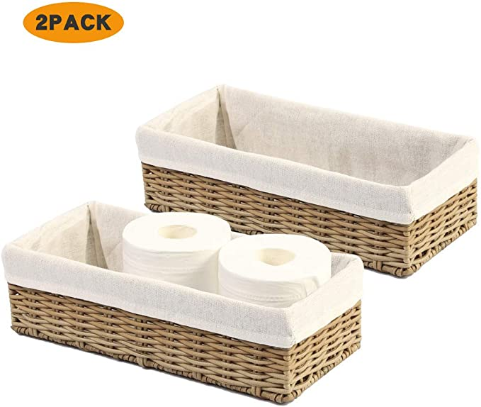 Challenged For Space In Your Bathroom The Bread Basket Is A Great Fit For The Back Of The Toilet To Hold Two Rolls Of Pa Bathroom Staging Toilet Toilet Paper
