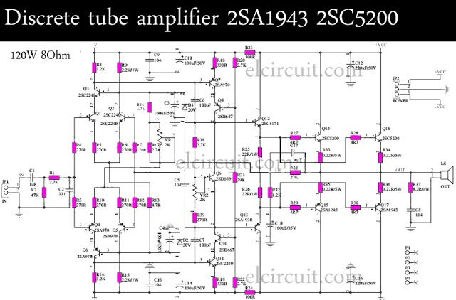 2sc5200 2sa1943 amplifier circuit diagram pcb