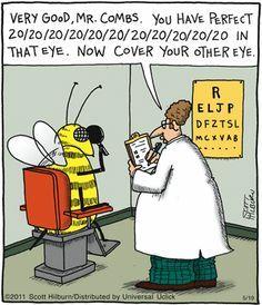 20 20 20 20 Vision D Eye Jokes Bee Humor Science Cartoons