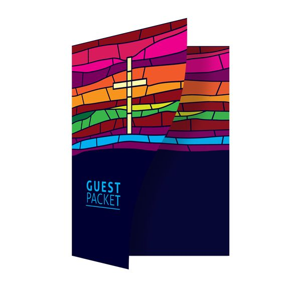 Stained Glass Church Guest Packet Folder Template for Adobi ...