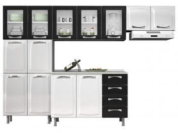 Cozinha Compacta Itatiaia Premium Com Balcao 13 Portas 4 Gavetas