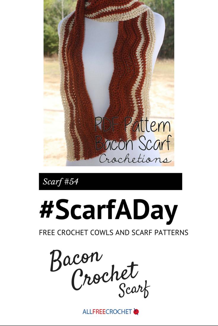 Bacon Crochet Scarf
