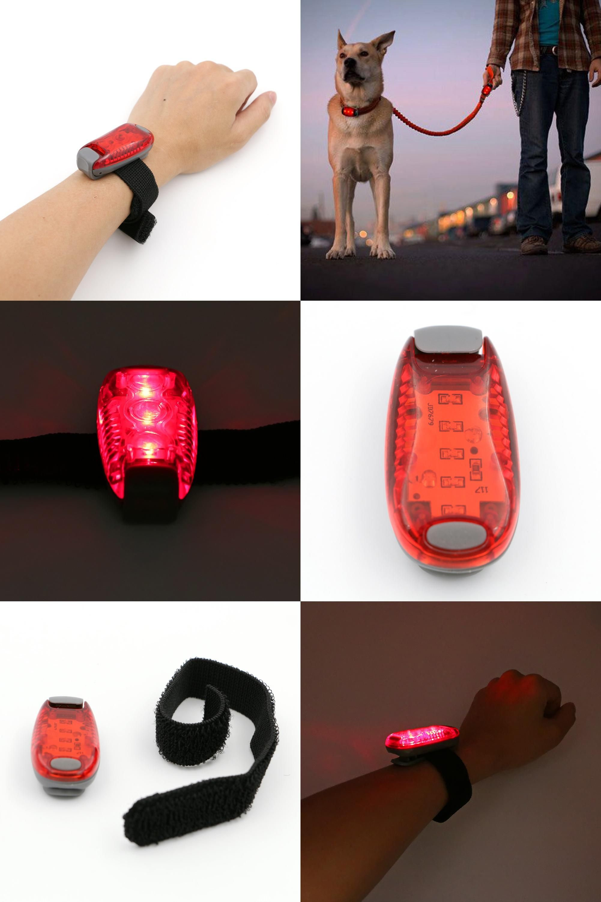5 LED Mini Light for Running Bicycle Cycling Jogging Safety Warning Lamp Torch