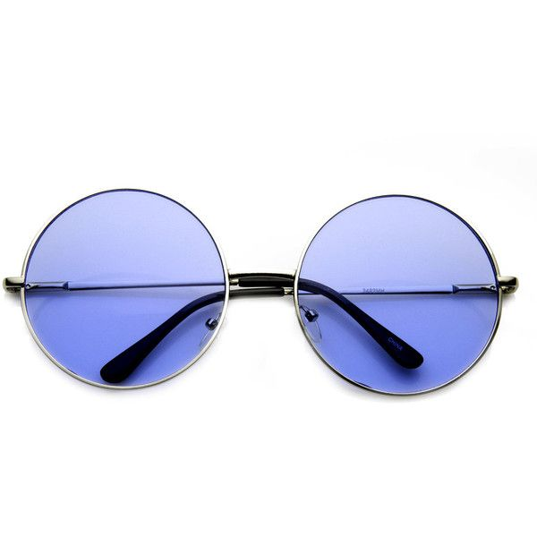 Indie Festival Hippie Oversize Round Colorful Lens Sunglasses 9580 ($9.99) ❤ liked on Polyvore featuring accessories, eyewear, sunglasses, glasses, colorful sunglasses, round lens sunglasses, round hippie sunglasses, round metal sunglasses and round glasses