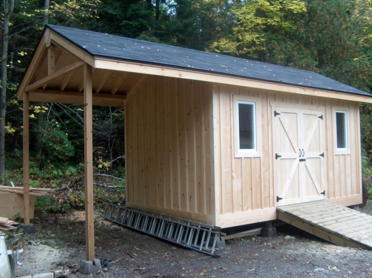 This is a large storage shed framed with 2x6 lumber with site built trusses and doors. Covered with pine Board and Batten. Built to be insulated ... & This is a large storage shed framed with 2x6 lumber with site built ...