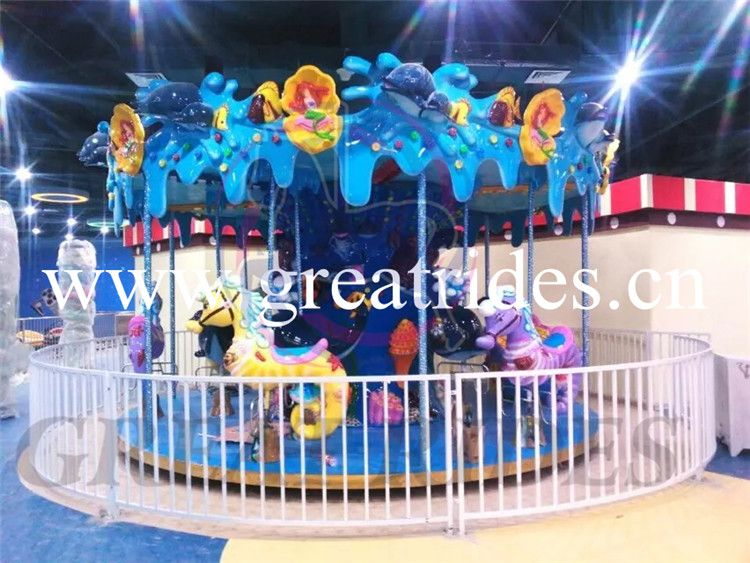 Christmas decoration kids games merry go round ocean carousel horses - christmas carousel decoration