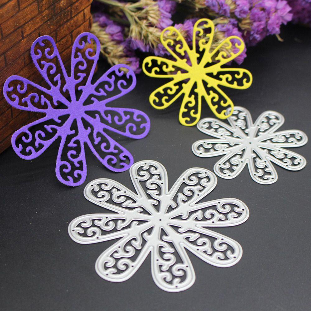 2pcs Flower Metal Cutting Dies Stencils DIY Scrapbooking Album Paper Card Craft