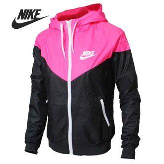 jacket nike cute pink white black nike