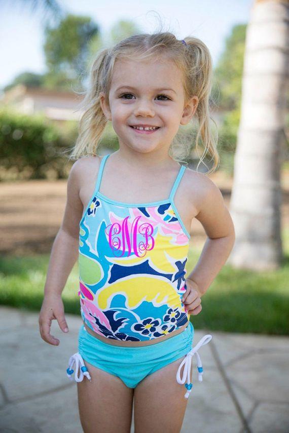 884ae804f8b91 Girls Monogram Swimsuit Baby Swimwear Toddler Swim Baby | Summer ...