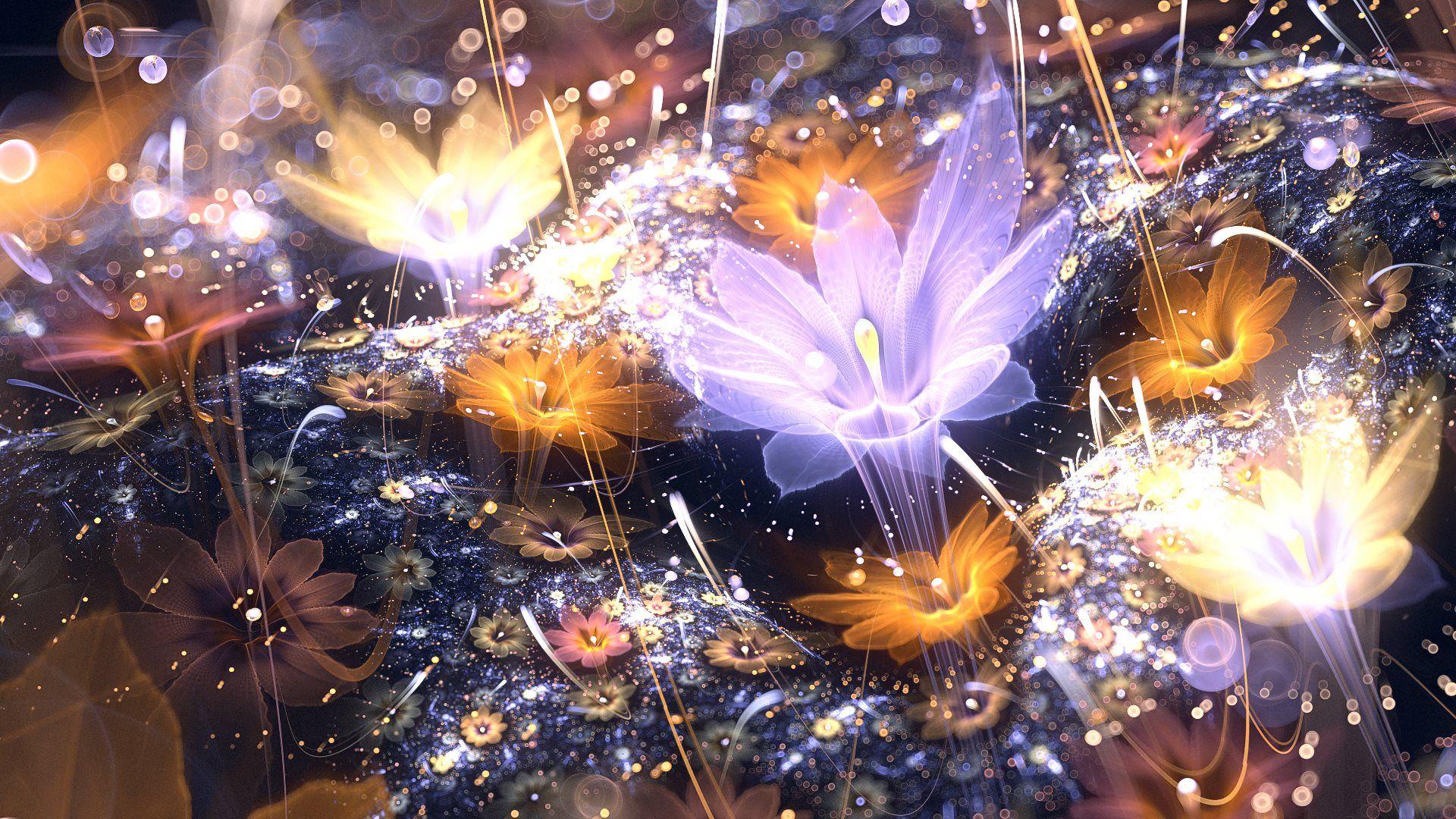 3d Abstract Fractal Art Abstract Art Fractal 3d Flowers Hd