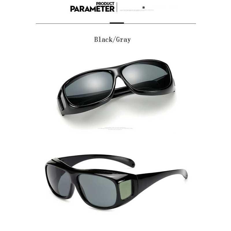 6016c95242 Night Driving Glasses Yellow Lens Sun glasses HD Night Vision Goggles Male  Retro Multi-function Men UV Protection Sunglasses