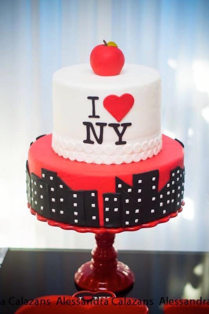 Ney York City Bridal Shower   New york cake, New york ...