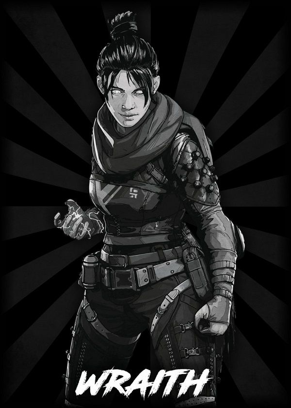 "Apex Legends B&W Radial Characters Wraith #Displate explore Pinterest""> #Displate artwork by artist ""Durro… 