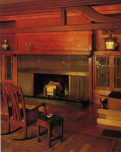 Arts and Crafts Movement -- Gamble House Hearth. The quintessence of Greene and Greene style. There's something about this that makes my heart happy...