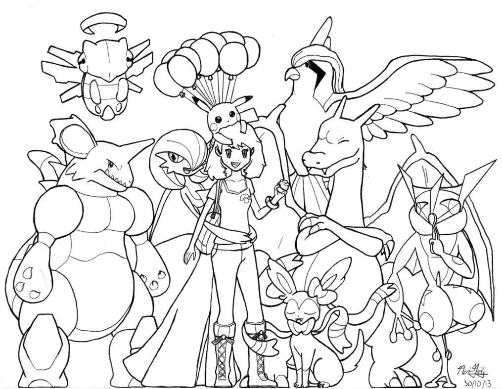 Coloriage Pokemon Xy Mega Evolution