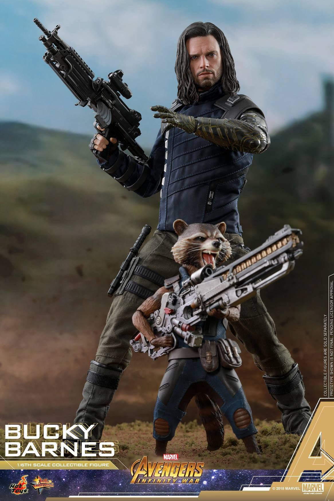 Avengers Infinity War Bucky Barnes Figure By Hot Toys With