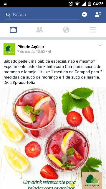 Morango, laranja e vodka