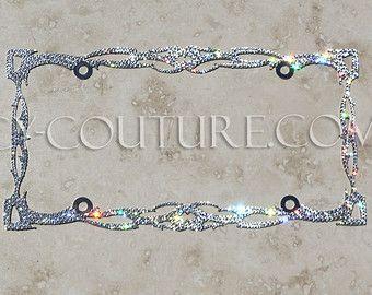 Crystal twilight bling license plate frame with swarovski for Mercedes benz license plate frame rhinestones