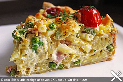 Schnelle Makkaroni-Quiche | Quiche, Pasta und Leckere rezepte
