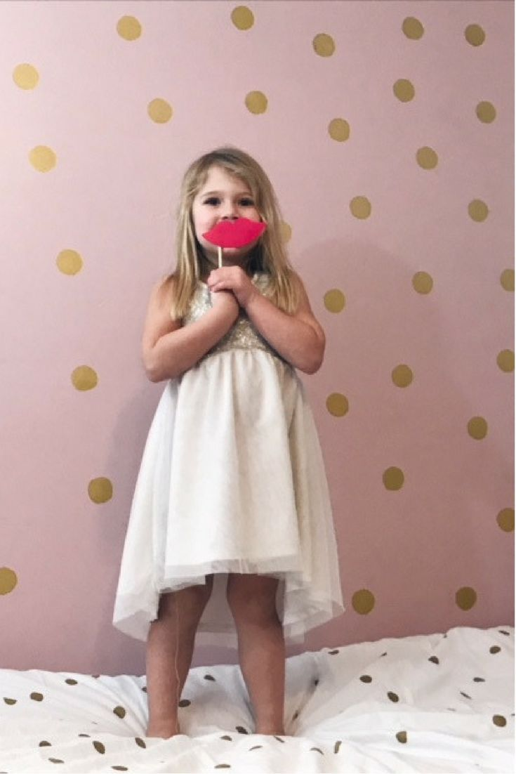 A Perfectly Pink Polka Dot Bedroom Makeover | Polka dot ...