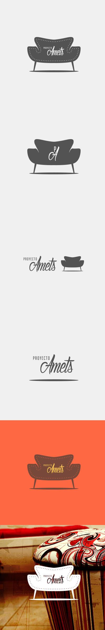 Proyecto Amets #muebles #logo #branding