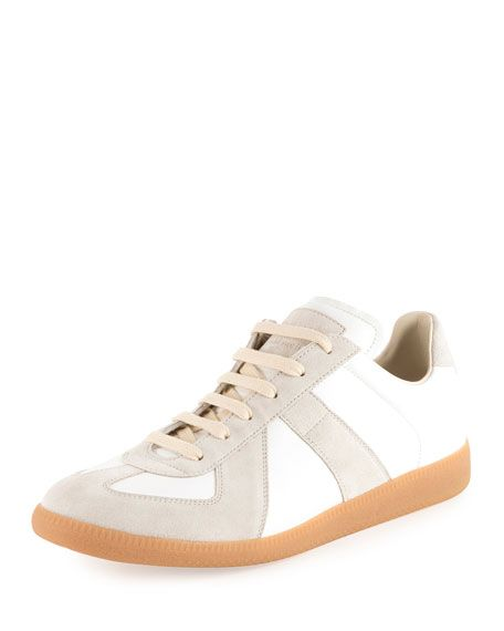 311a95df42e MAISON MARTIN MARGIELA Men'S Replica Leather & Suede Low-Top Sneaker ...