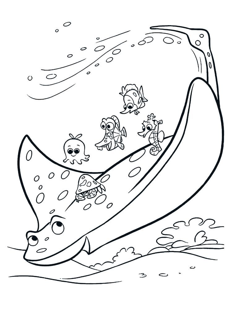 Manta Ray Coloring Pages Image Nemo coloring pages