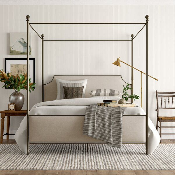 Best Birch Lane™ Heritage Williston Upholstered Canopy Bed 400 x 300