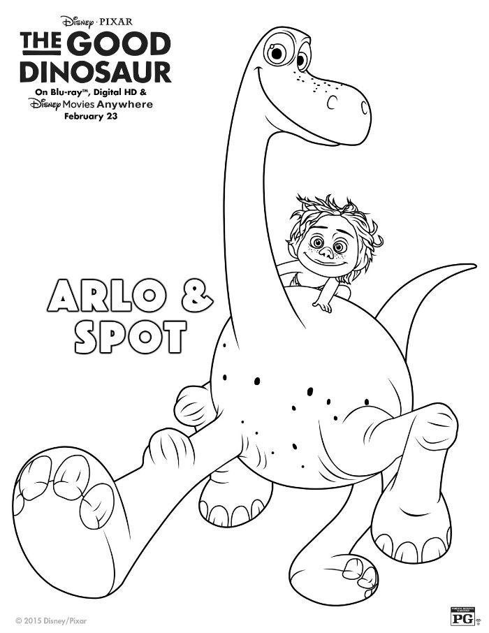 Disney The Good Dinosaur Arlo & Spot Coloring Page
