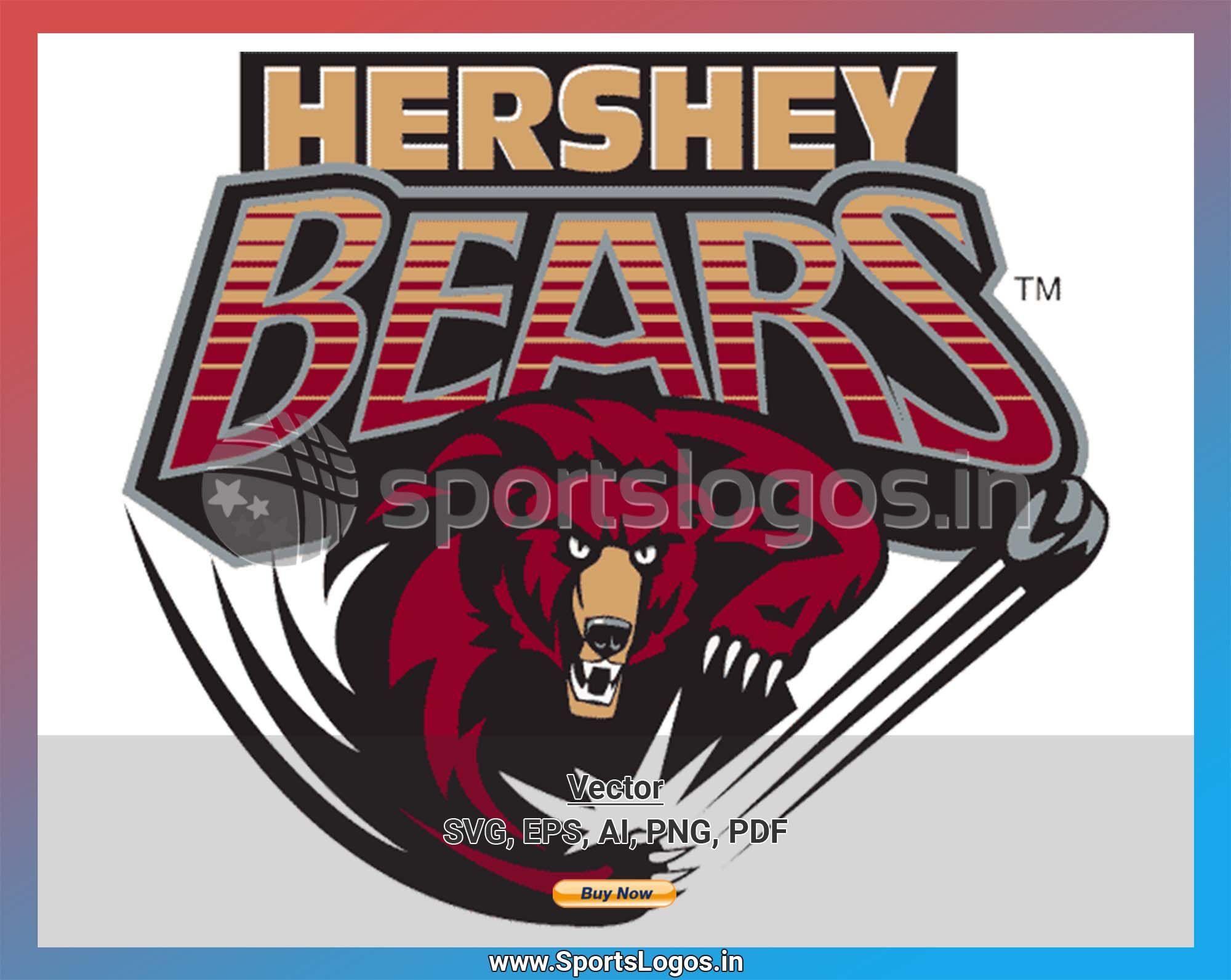 Hershey Bears Hockey Sports Vector Svg Logo In 5 Formats Spln001831 Sports Logos Embroidery Vector For Nfl Nba Nhl Mlb Milb And More Hershey Bears American Hockey League Sport Hockey