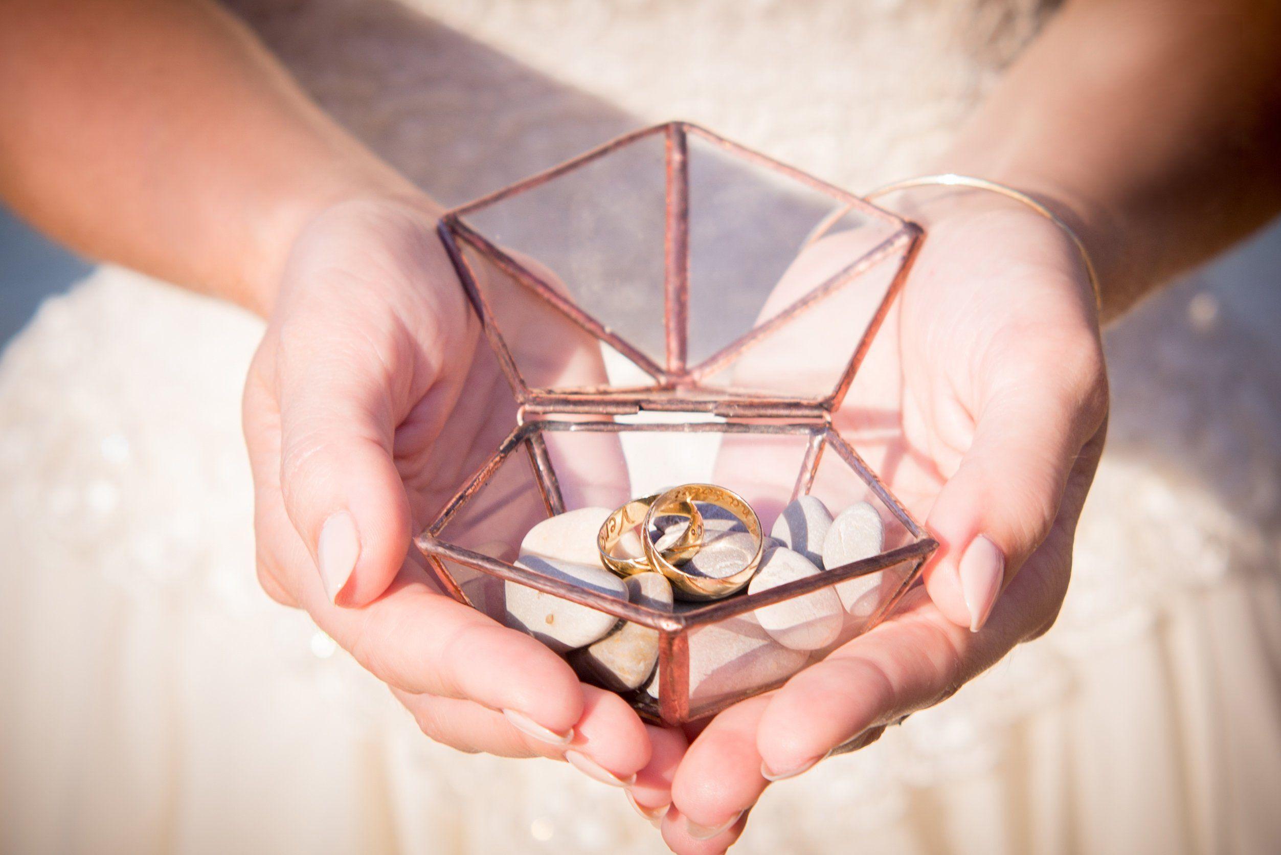 Glass ring box Ring box wedding Geometric ring box Wedding ring box ...