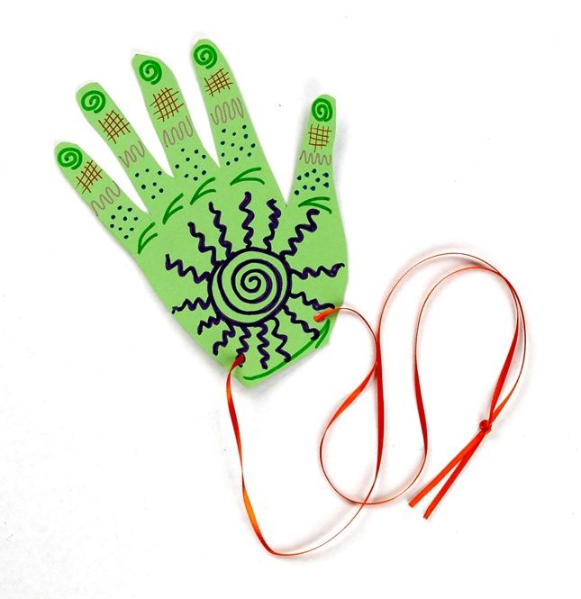 Good luck! Create a Moroccan good luck hand or Khamsa using Crayola® markers in fun, new ways.