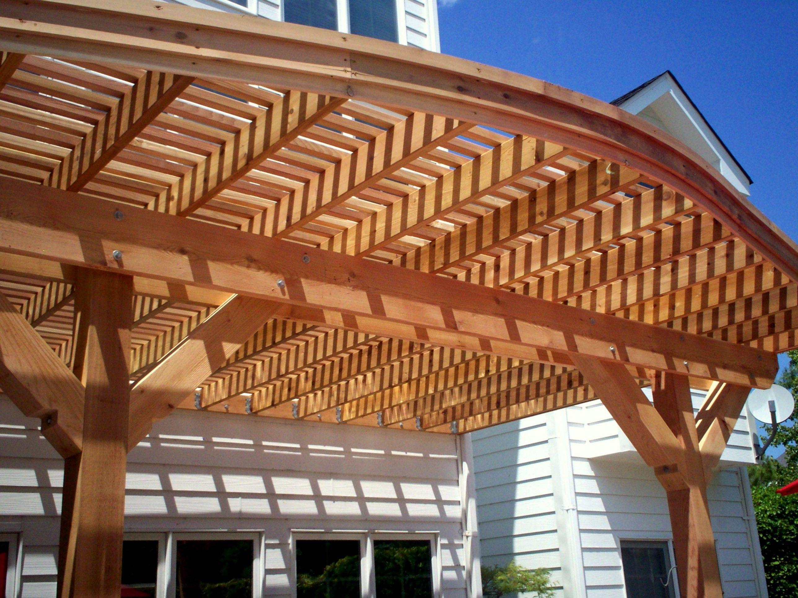 Curved Pergola Plans Pergolas Beams Of Solid Western Red Cedar Rafters Designs By Lawrence Winterburn