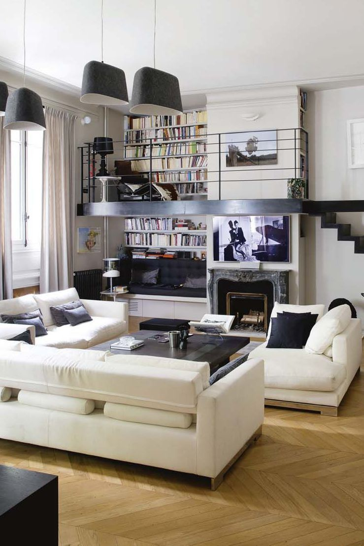 appartement paris r nov par l 39 architecte isabelle stanislas hauteur sous plafond. Black Bedroom Furniture Sets. Home Design Ideas