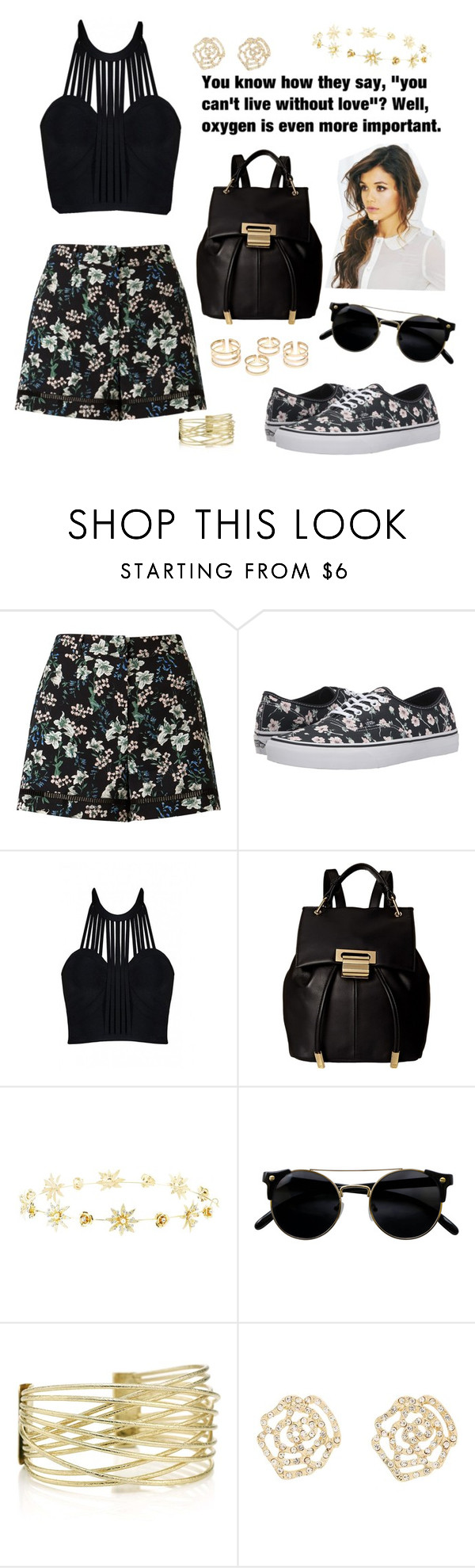 """~Floral shorts~"" by bubblegum59 ❤ liked on Polyvore featuring Miss Selfridge, Vans, Posh Girl, Ivanka Trump and Charlotte Russe"