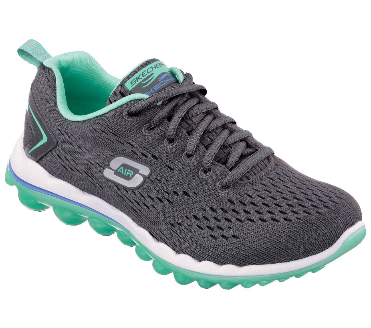5979fb53e9a7 Skech Air 2.0 by Skechers  Charcoal Turquoise