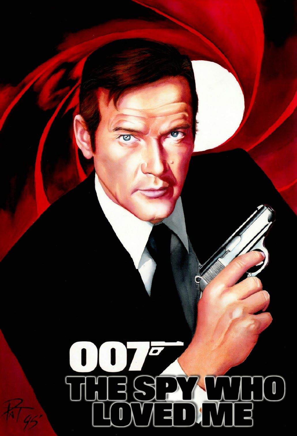 The Spy Who Loved Me Artwork By Patricio Carbajal Filmes Agente 007 Atelier