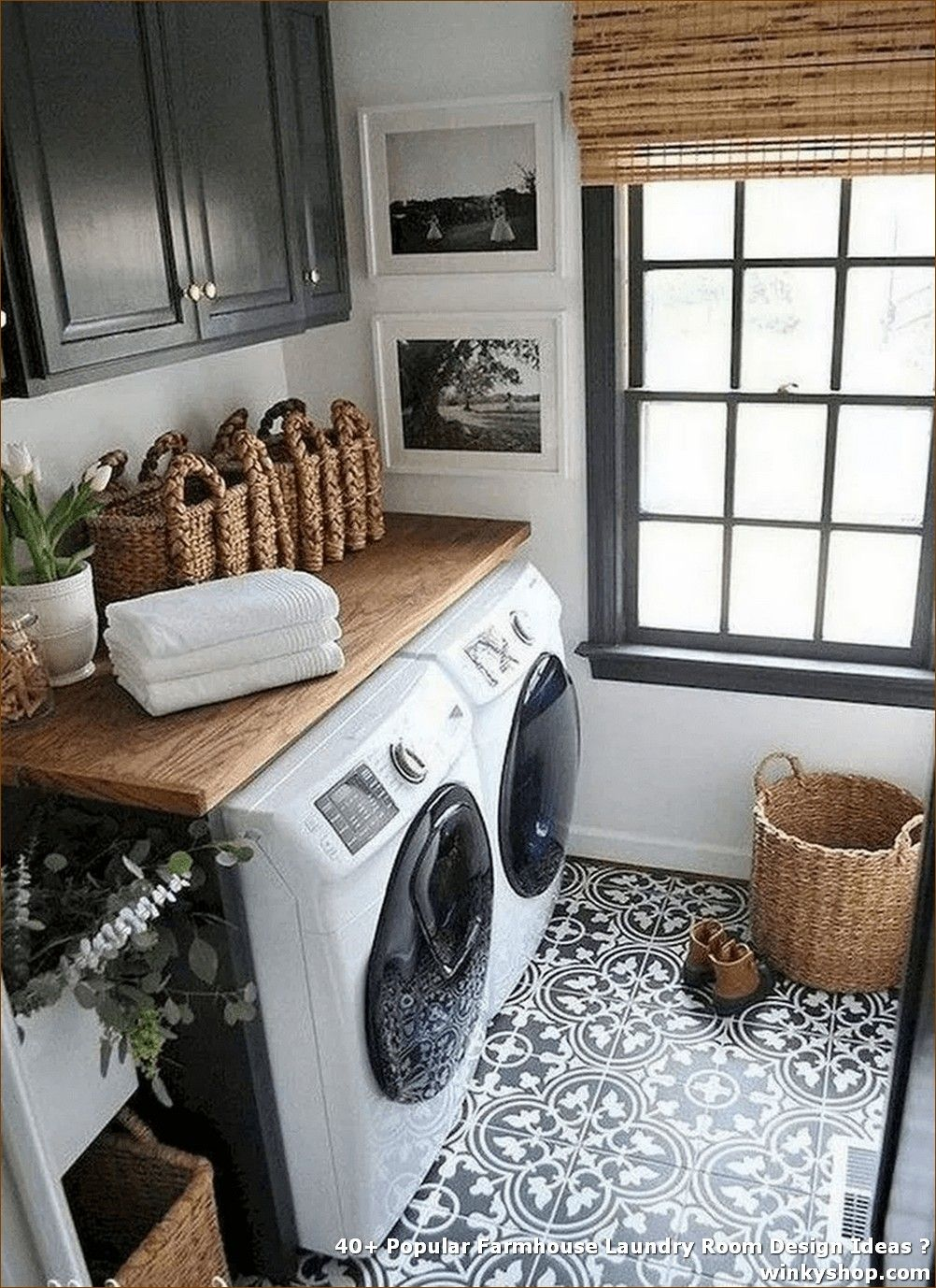 40+ Popular Farmhouse Laundry Room Design Ideas ✓
