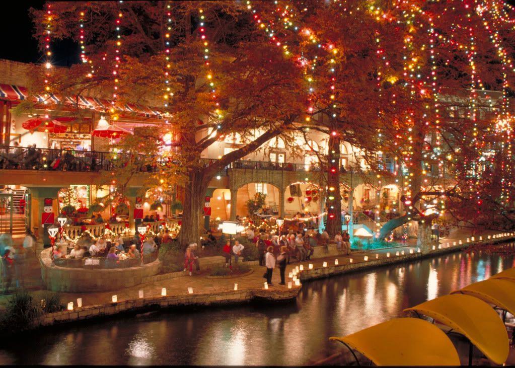 Christmas Lights along the San Antonio (TX) Riverwalk