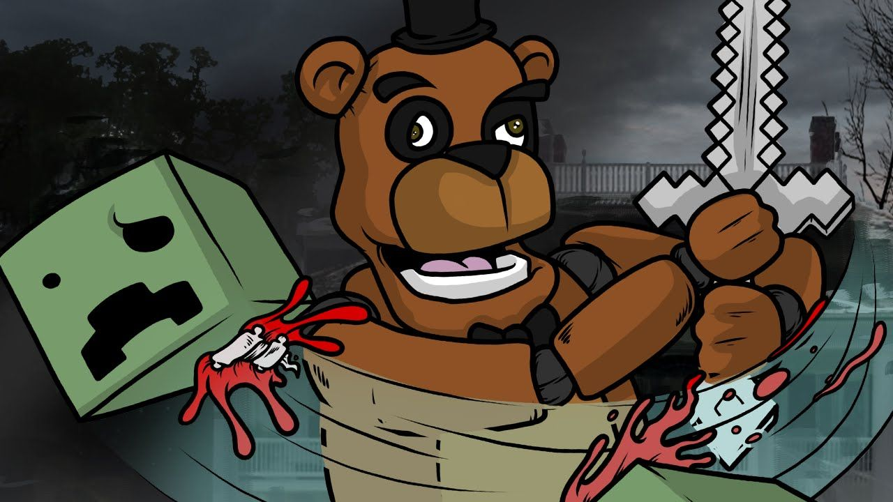 Freddy & Friends vs Minecraft - Survival! (Left 4 Dead 2