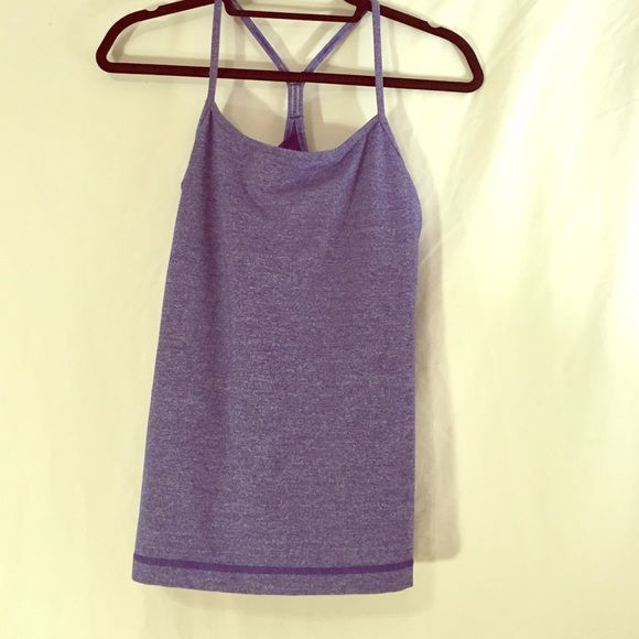 Lululemon Power Y Tank Heathered Blue A beautiful color and yoga staple from Lulu! In GUC. lululemon athletica Tops Tank Tops