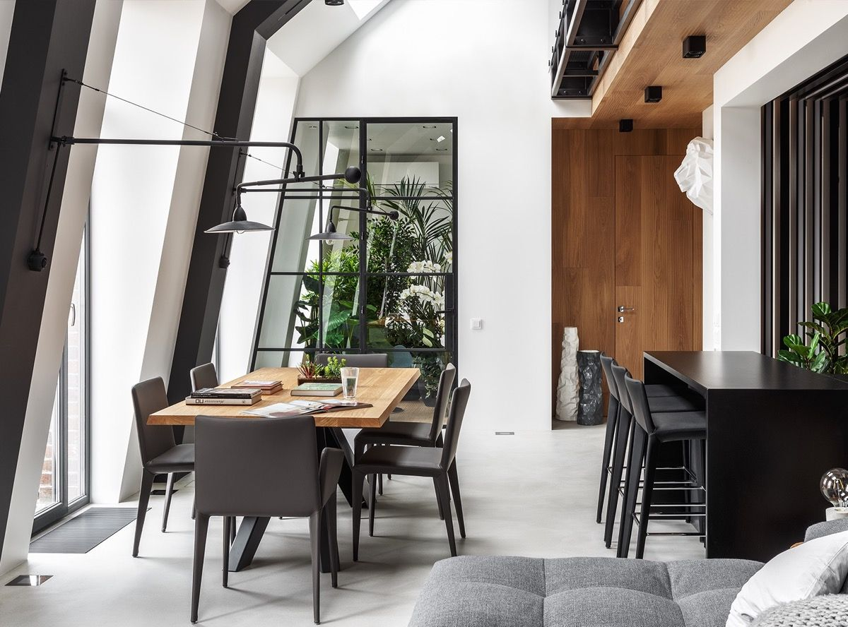2 Gorgeous Attic Apartments That Use Grey As Base Home